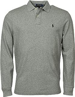 Men's Classic Fit Long Sleeve Mesh Polo Shirt