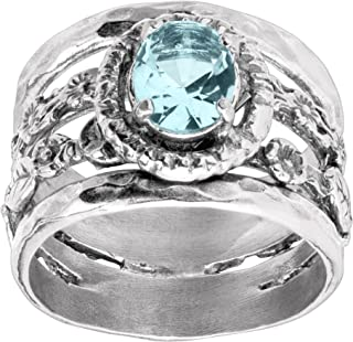 Best Buds' 1 1/2 ct Blue Cubic Zirconia Ring in Sterling Silver