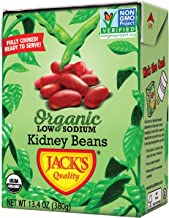 Jack's Organic Kidney Beans (8 PACK) – Filled with Protein & Fiber, Heart..