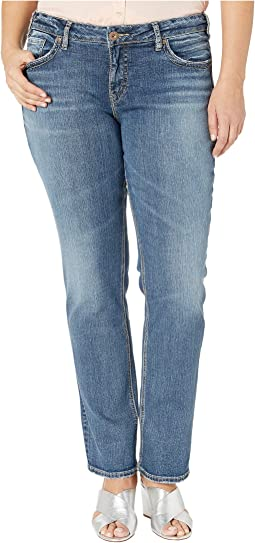 Plus Size Suki Mid-Rise Perfectly Curvy Straight Leg Jeans in Indigo