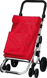Playmarket GO Plus Large Capacity Folding Shopping Cart with Swivel Wheels, Red
