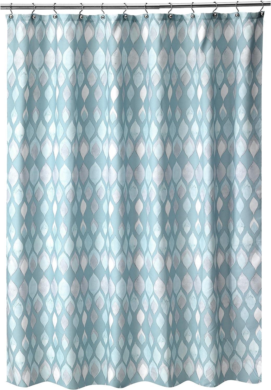 Shell Rummel Sea Glass Shower Curtain, Teal