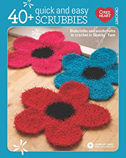 40+ Quick and Easy Scrubbies: Dishcloths and Washcloths to Crochet in Scrubby Yarn-Complete Free Video Tutorials Available...