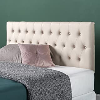 Zinus Trina Upholstered Modern Classic Tufted Headboard in Taupe, Queen