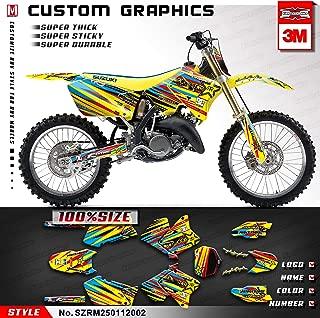 Kungfu Graphics Custom Decal Kit for Suzuki RM125 RM250 2002, Yellow