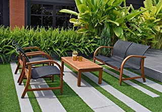 Amazonia 4-Piece Manhattan Eucalyptus Deep Seating Set