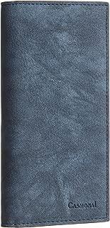 Casmonal Genuine Leather Checkbook Cover For Men & Women Checkbook Holder Wallet RFID Blocking