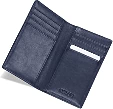 HISCOW Bifold Credit Card Holder with 8 Slots - Italian Calfskin