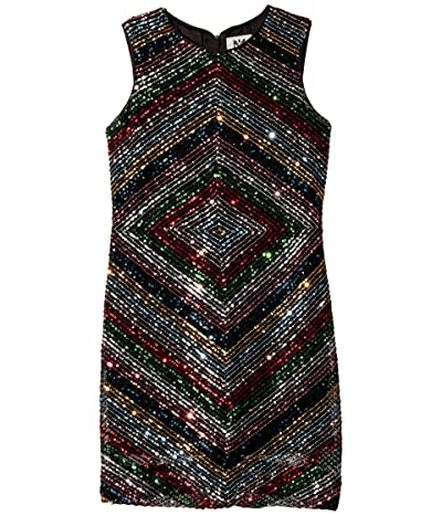 Milly Minis Mitered Dress (Big Kids) (Multi) Girl