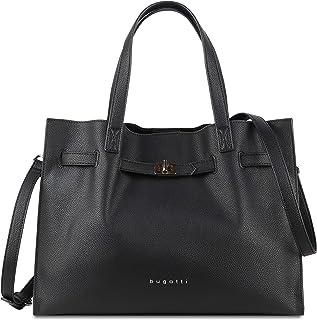 bugatti Chiara Schultertasche Damen L - Frauen Tasche, Handtasche Damenhandtasche – Schwarz