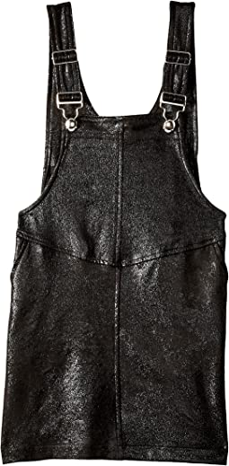 Blank NYC Kids - Skirt Overalls in Knock Out (Big Kids)