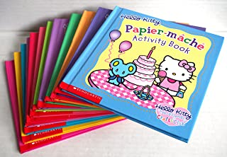 Set of 12 Hello Kitty Activity Books: Craft Sticks, Painting, Tissue Paper, Glitter, Stitch 'N Sew, Stationery, Papier-mache, Felt, Craft Foam, Pipe Cleaner, Glitter Clay, and Beads (Hello Kitty)