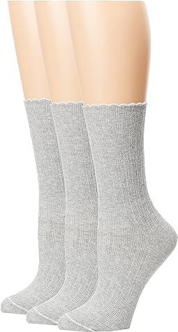 HUE - Scalloped Pointelle Socks 3-Pack