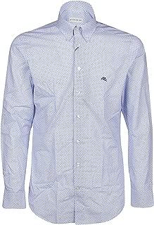 ETRO Luxury Fashion Mens 1K96461510250 Light Blue Shirt |