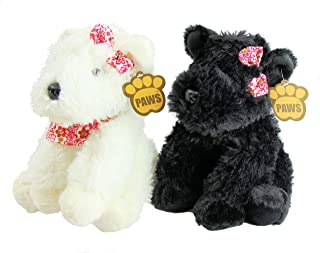 Paws Set of Two Black & White West Highland Terrier 'Westie' Dog 10