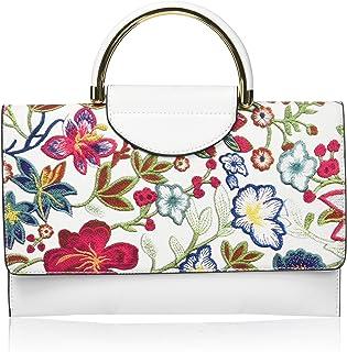 Mellow World Damen Primerose Hb27228, Vegan Leather Flower Pat Cb With Top Handle, Mag Snap Closure Umhängetasche, Einheit...