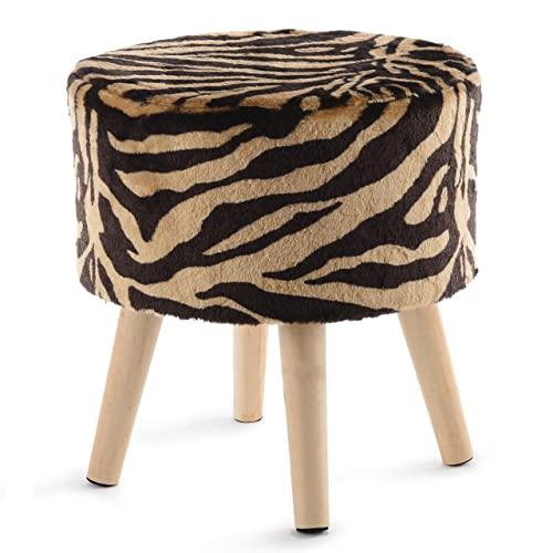 Ottomans, Footstools & Poufs Small Leopard Print Footstool Ottoman With Tassel Awesome Great Condition!!! Furniture