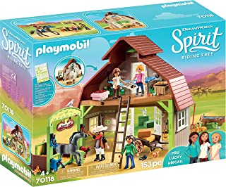 Playmobil Spirit Riding Free Barn with Lucky, PRU & Abigail
