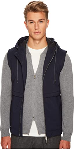eleventy - Wool Flannel Hooded Vest