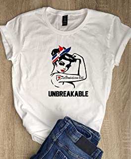 Unbreakable Dominican Girl T-Shirt - Cute Women's Tee - Rosie the Riveter T-Shirts - Dominican Republic DR Latina