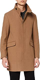 find. Men's Funnel Neck Wool Coat