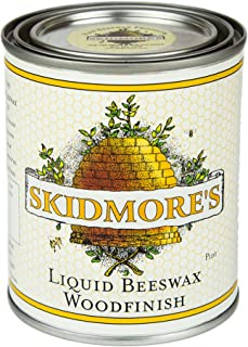 Skidmore's Premium Liquid Beeswax Wood Finish   Natural Non Toxic Formula Will Polish, Condition, Restore Interior Wood   Repair a Scratch, Restores Furniture, Hardwood Floor Restorer   1 Pint