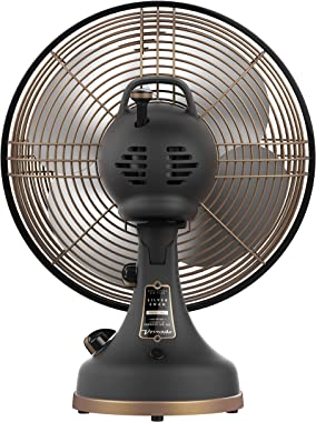 Vornado Silver Swan Alchemy Oscillating Vintage Fan, Gunmetal