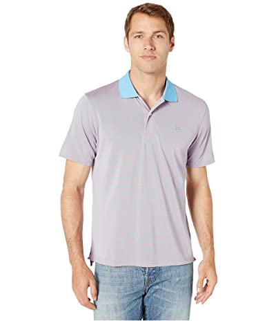 Southern Tide Fort Frederik Stripe Performance Polo (Shell Pink) Men