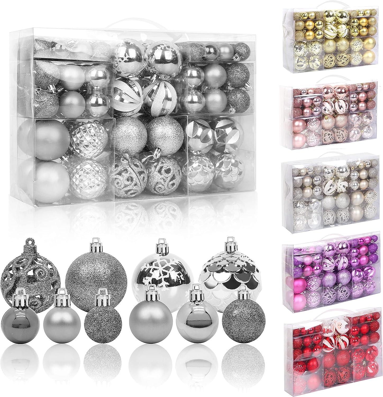 100 Pack Christmas Ball Ornaments Max 57% OFF Ranking TOP7 Plastic Decor Shatterproof Set
