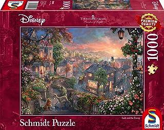 Schmidt Spiele- Thomas Kinkade, Disney, Susi y Strolch - Puzzle (1000 Piezas), Color carbón, 69,3x49,3cm (59490)