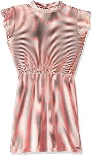Tommy Hilfiger girls VELVET PLISSE Knitted Dress