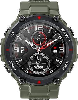 Amazfit T-Rex Smartwatch – med PPG pulssensor, AMOLED Allways-On-Display, MIL-STD-810, inbyggd GPS – 5 ATM vattentät, armé...