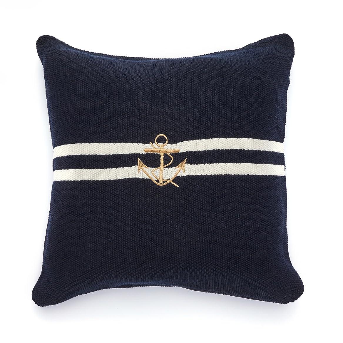 ばかげた症状複製New Havenピュアコットンニット枕、Ahoy Captain 。