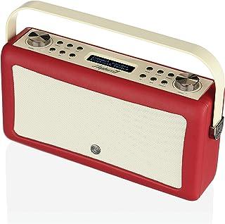 VQ Hepburn Mk II DAB+ Digital Radio with FM, Bluetooth & Alarm Clock – Red