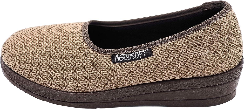 para pies sensibles ancho G-H Aerosoft Bailarina el/ástica para mujer adecuado para Hallux Valgus Material interior: Dermatest muy bueno sin presi/ón