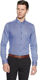 US Polo Association Men's Checkered Slim Fit Formal Shirt