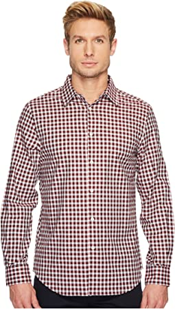 Perry Ellis - Long Sleeve Herringbone Check Shirt