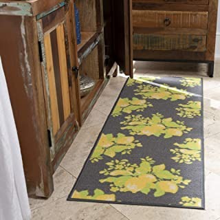 Ottomanson Lemon Collection Contemporary Grey Lemons Design Runner Rug with (Non-Slip) Kitchen and Bathroom Rugs, Grey, 20