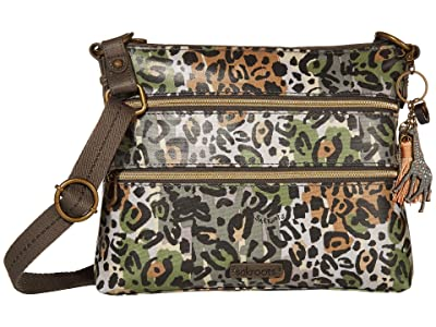 Sakroots Artist Circle Basic Crossbody (Slate Spotted Wildlife) Cross Body Handbags