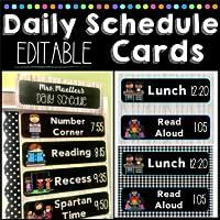 Editable Daily Schedule Cards Jana's Bananas