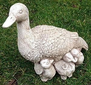"""Swan//De Pato patitos adorno Estatua/Escultura piedra hogar–jardín de Navidad regalo de recuerdo de Navidad """"ping pong"""", """"y"""" Pang"""
