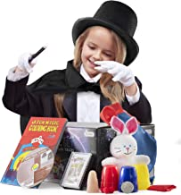 Prextex Kiddie Magician Role Play Costume and Tricks Set for Kids - Pretend Play Dress Up Set with Exciting Magic Trick Props and 1 Full Hour Training Instruction DVD