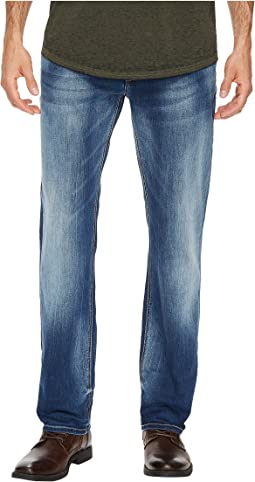 Evan-X Slim Straight Leg Jeans in Veined and Whiskered