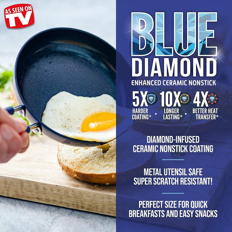 Blue Diamond Cookware Ceramic Nonstick Mini Egg Pan 2 Pack