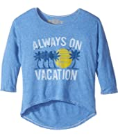 The Original Retro Brand Kids - Living in Paradise 3/4 Tri-Blend Dolman (Big Kids)