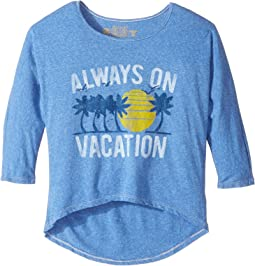 Living in Paradise 3/4 Tri-Blend Dolman (Big Kids)