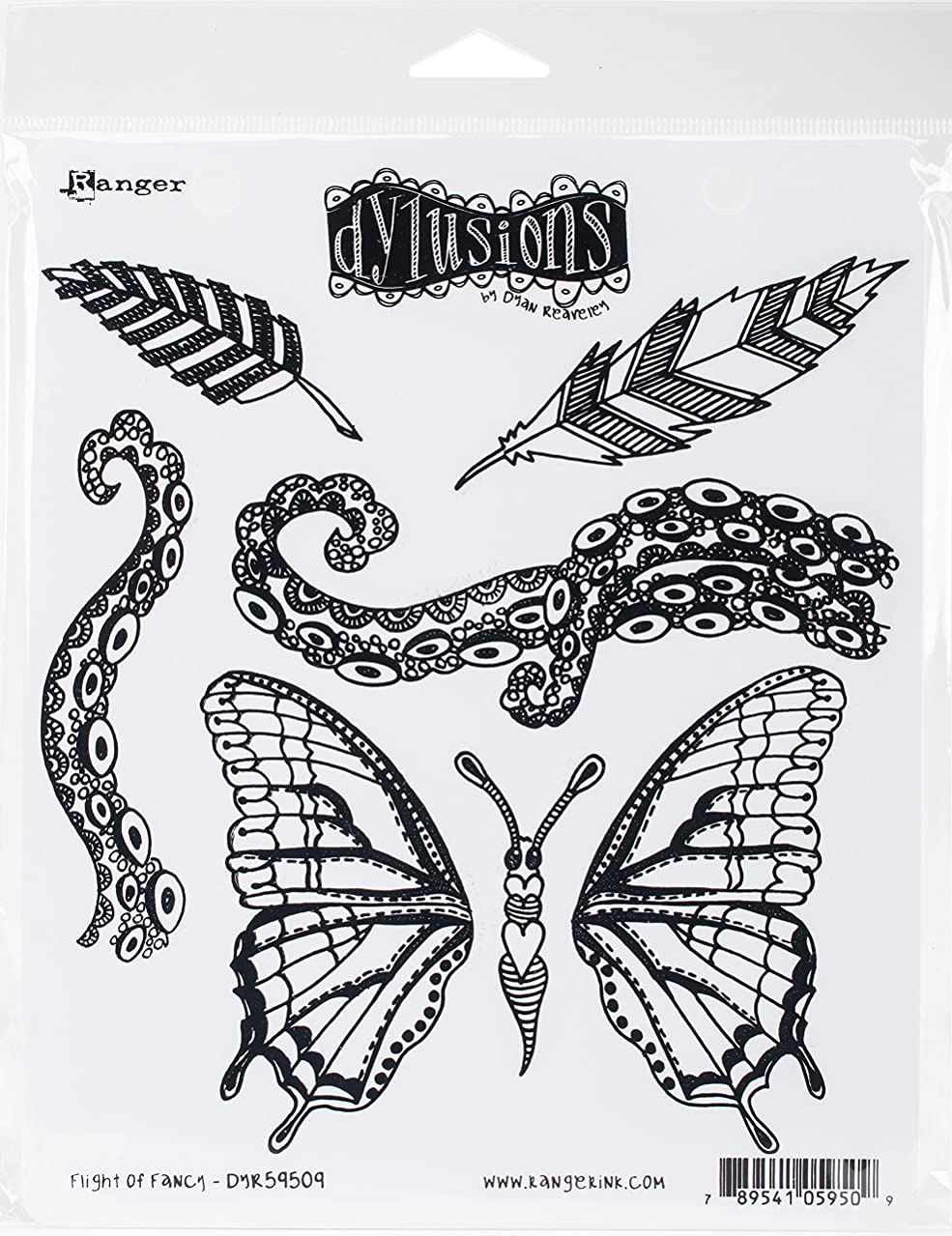 Ranger Flight of Fancy Dyan Reaveley's Dylusions Cling Stamp Collections, 8.5