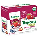 Tropicana Kids Organic Juice Drink Pouch, Mixed Berry, 5.5 fl oz Pouches, 8 Count