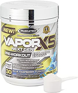 MuscleTech Performance Series Vapor X5 Next Gen Pre Workout Powder with Creatine, Beta Alanine, Betaine, Nitric Oxide and ...