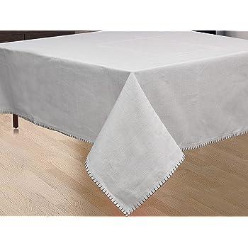 NORA HOME Mantel Smooth 100% algodón hasta 3 Metros (Gris, 150x200cm): Amazon.es: Hogar